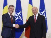 Conferinta de presa comuna la Cotroceni. Secretarul general NATO: Romania nu e singura. Traian Basescu: Obiectivul nostru este consolidarea nivelului de securitate
