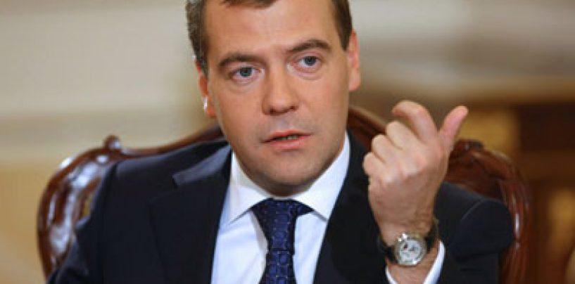 Medvedev: Gazul care nu va mai ajunge in UE va fi dat Chinei