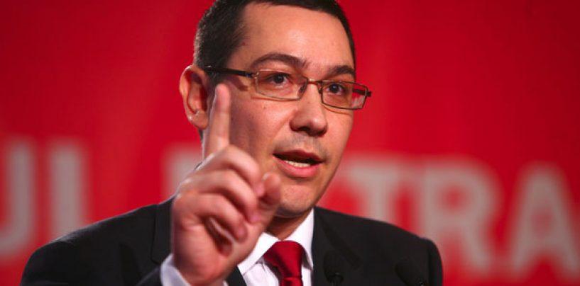 Victor Ponta: Vrem unirea Moldovei, a Transilvaniei si a Munteniei. Prin drumuri