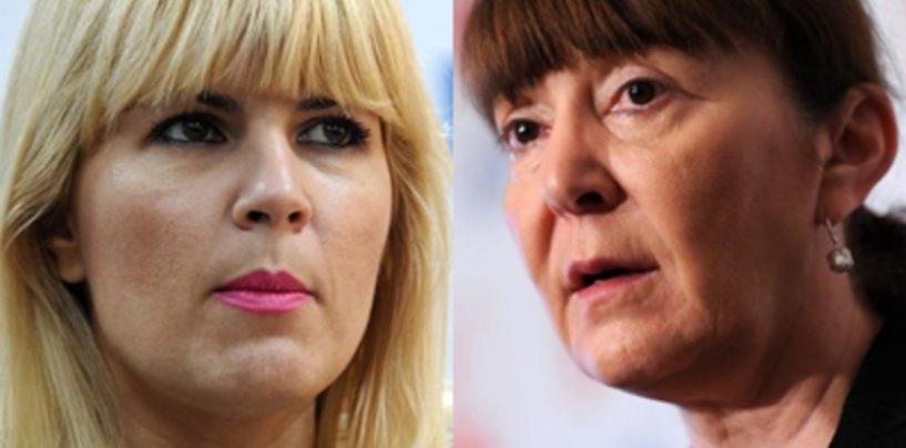 Monica Macovei intrerupta la TV de niste calupuri de publicitate electorala cu Elena Udrea