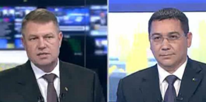 Klaus Iohannis a dat un semnal clar de cedare spre finalul dezbaterii cu Victor Ponta