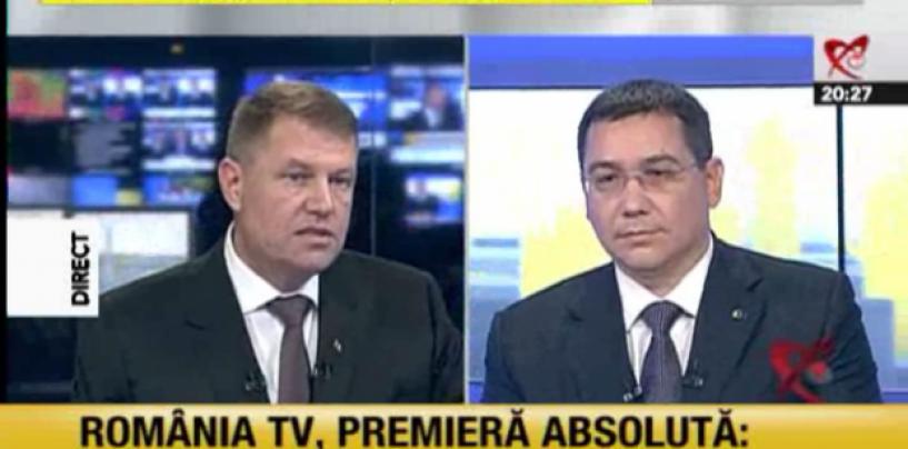Iohannis a fost ezitant și nu părea să aibă argumente în fața lui Victor Ponta