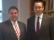 Vicecancelarul Germaniei, Sigmar Gabriel, şi-a afirmat susţinerea pentru Victor Ponta