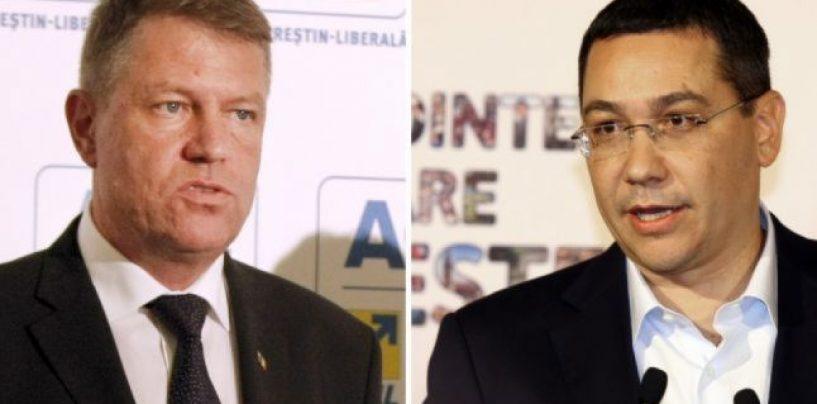 """Klaus Iohannis şi Victor Ponta s-au contrat în dezbatere pe tema """"penalilor"""" din partidele celor doi"""