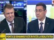 Atacuri fără precedent în confruntarea dintre Victor Ponta şi Klaus Iohannis