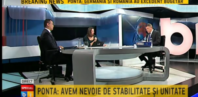 Primarul Sibiului a inceput agresiv confruntarea dar, Victor Ponta a rămas calm