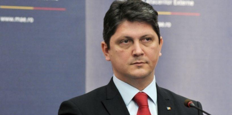 Titus Corlăţean şi-a depus demisia din funcţia de ministru al Afacerilor Externe