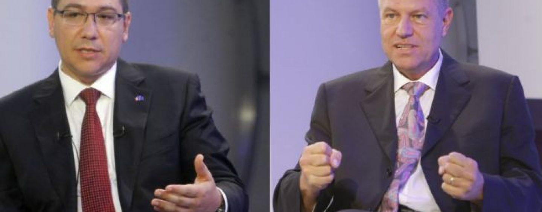 PONTA şi IOHANNIS din nou faţă în faţă într-o dezbatere televizată