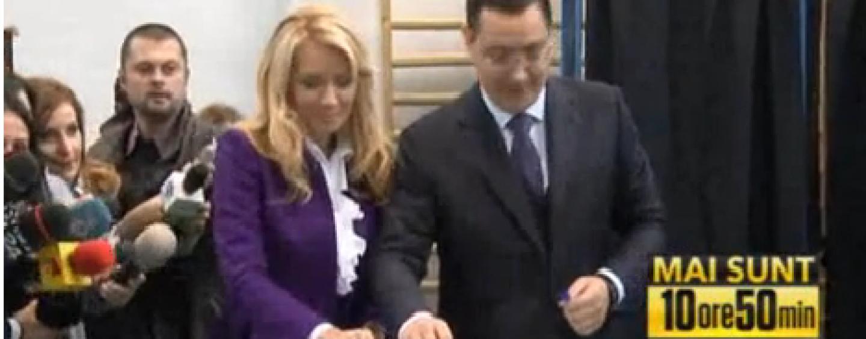 Ponta la vot, alaturi de soția sa: Cred că din această iarnă vom fi cu adevărat o ţară democratică