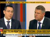 Ponta: Iohannis va întoarce România în 2010. Vezi AICI răspunsul prezidenţiabilului ACL