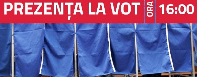 PREZENŢA LA VOT până la ora 16.00, sub cea din 2009, anunță Biroul Electoral Central
