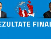 Rezultate aproape finale:  Klaus Iohannis a castigat in 17 judete, iar Victor Ponta in 14 judete