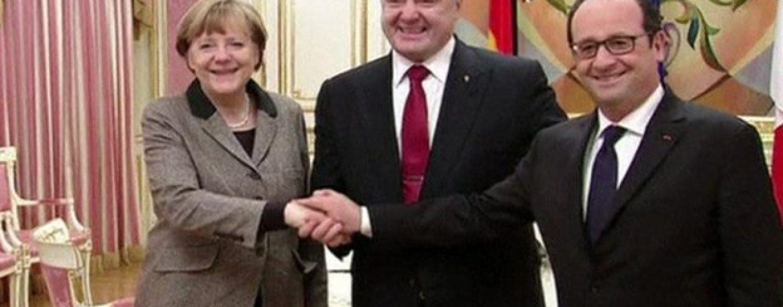 Ucraina-Rusia/ Angela Merkel și François Hollande, întâlnire pentru pace cu Vladimir Putin