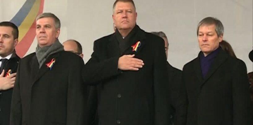 Presedintele Klaus Iohannis, huiduit la Iasi, cu ocazia sarbatoririi Zilei Unirii