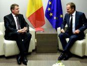 Iohannis s-a întâlnit cu preşedintele Consiliului European, Donald Tusk. Drepturile românilor care lucrează în Marea Britanie nu trebuie să fie puse în discuţie, spune şeful statului