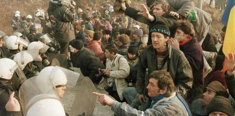 """N-a scăpat de puşcărie. Fost lider al minerilor, """"săltat"""" de poliţişti şi băgat după gratii"""