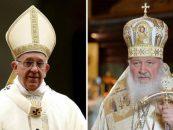 Întâlnire istorică. Papa Francisc şi Patriarhul rus Chiril au discutat despre unitatea creştinilor