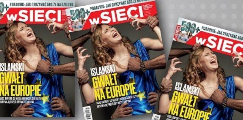 """""""Violul islamic al Europei"""". O revistă poloneză apare pe copertă cu o fotografie controversată"""