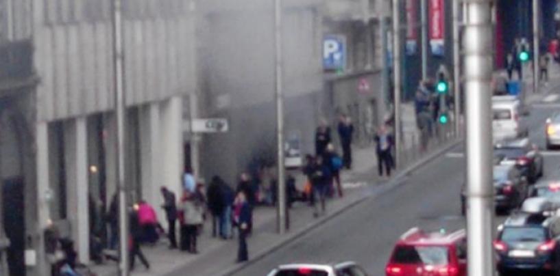 Sistemul public de transport din Bruxelles, suspendat după exploziile soldate cu morți și răniți