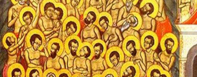 Miercuri, sărbătoare deosebită. Sfinţii 40 de mucenici din Sevastia, prăznuiţi de Biserica Ortodoxă