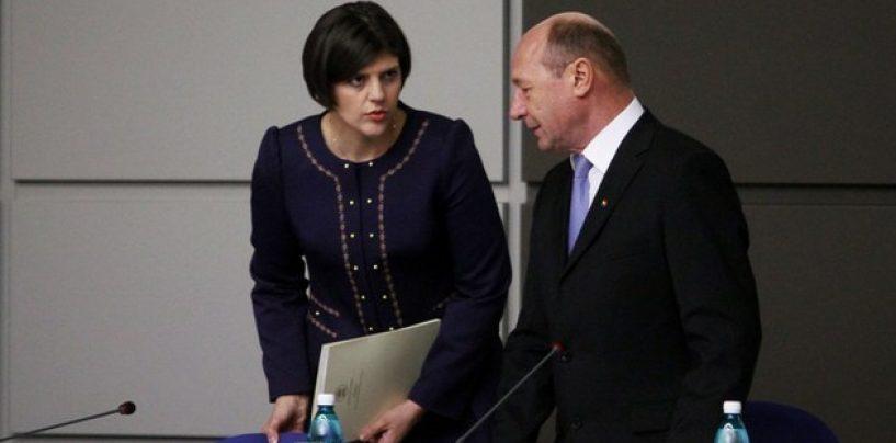 Traian Băsescu: Laura Codruța Kovesi ar trebui să se autosuspende din funcție