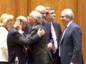 Pupat plenul Parlamentului. Traian Basescu s-a revazut cu Jean-Claude Juncker