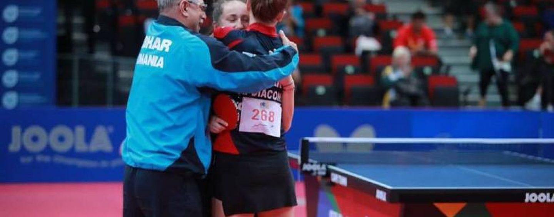 Felicitări! Echipa de aur a României la Europenele de tenis de masă din Luxembourg
