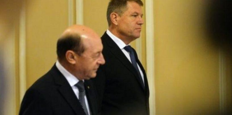 Traian Băsescu garantează Iohannis pentru prezidențiale