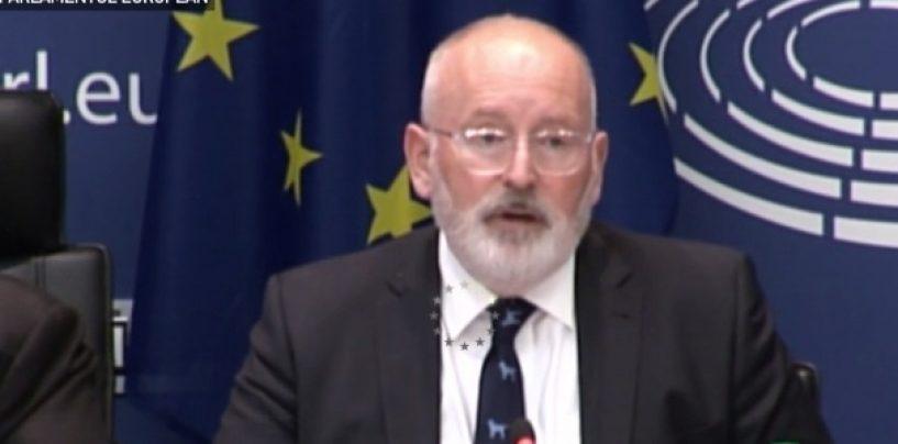 Amenințările lui Timmermans: Avertizez România că putem reacționa imediat, în câteva zile