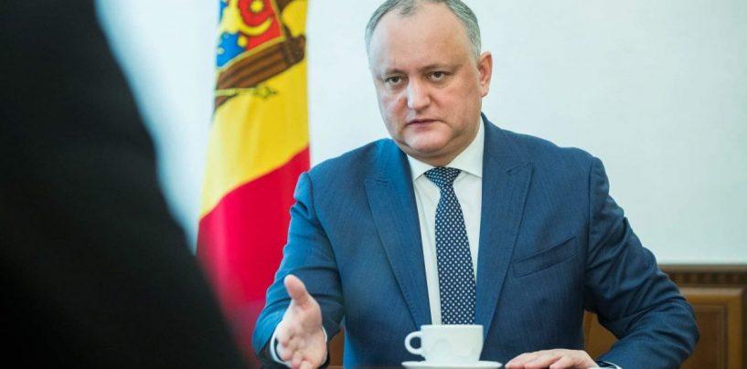 Lovitură de stat în Republica Moldova: Președintele Dodon, suspendat, numirea Maiei Sandu ca premier, anulată