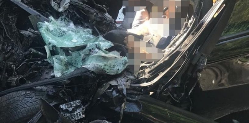 Grav accident de circulație, în zona localității Milova! Un bărbat decedat și o femeie preluată de elicopterul SMURD