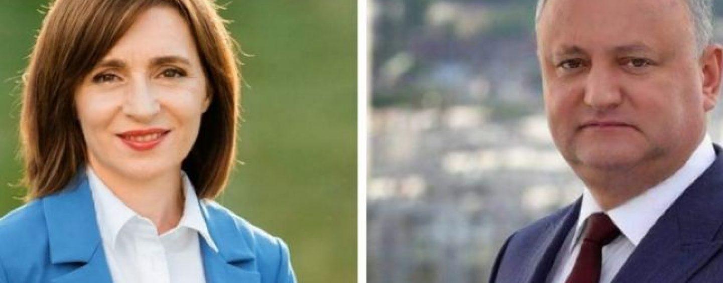 Alegeri Republica Moldova. Maia Sandu câștigă în primul tur, în fața lui Igor Dodon